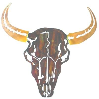 bison metal wall art
