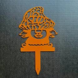 lady garden gnome stake
