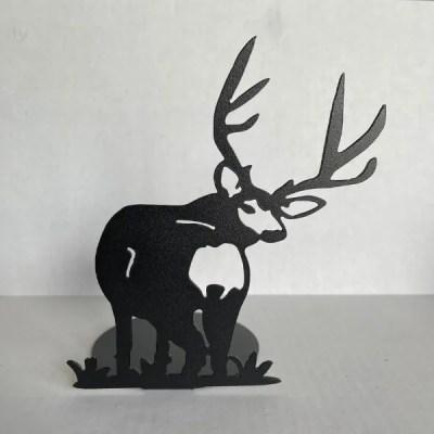 candle holder deer black