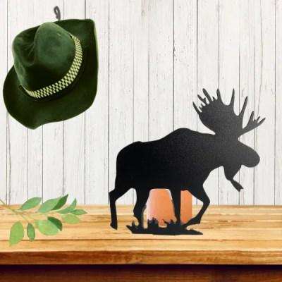 candle holder moose black table