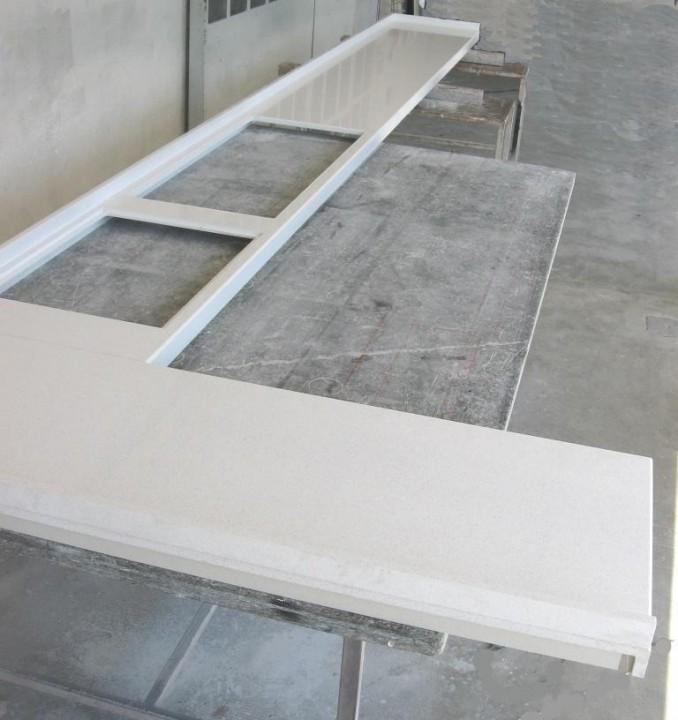 Marmo quarzo bianco  Cemento armato precompresso