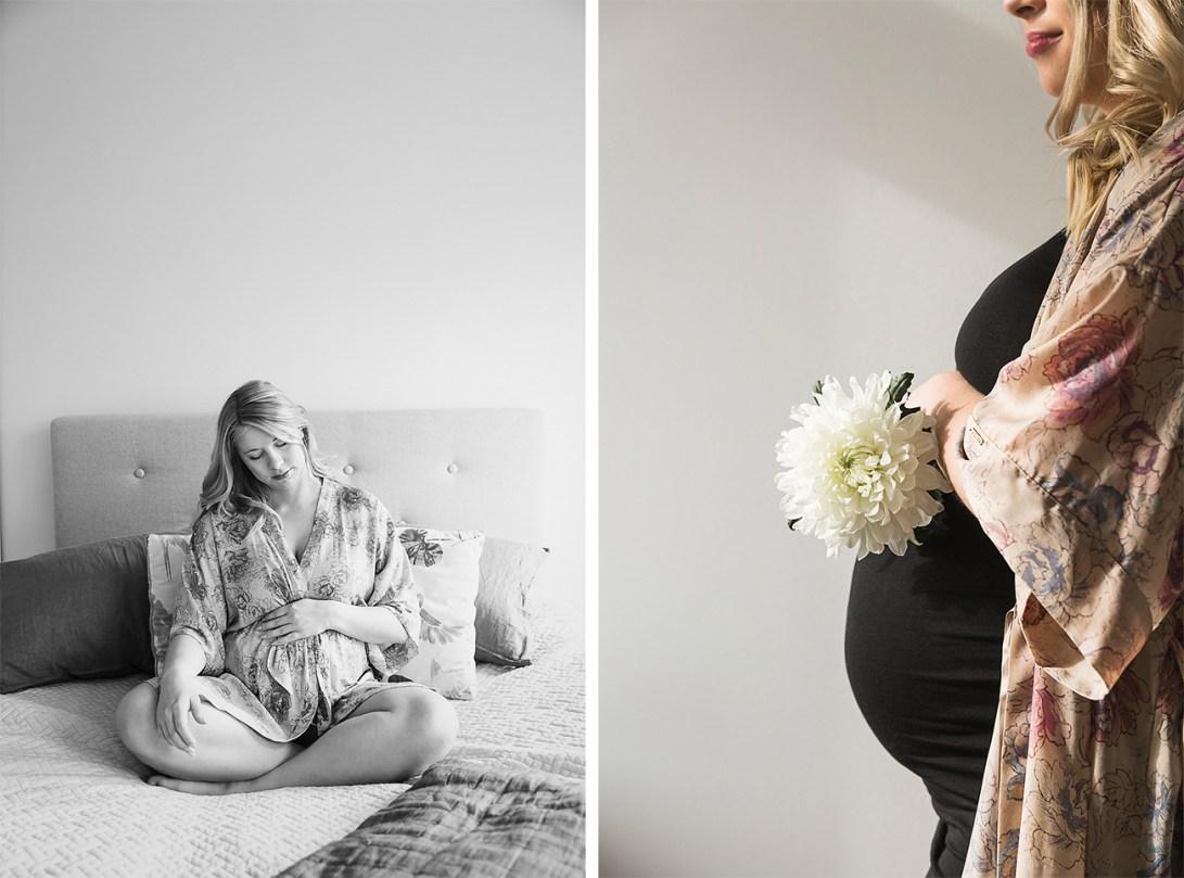 Äitiyskuvaus asiakkaan kotona
