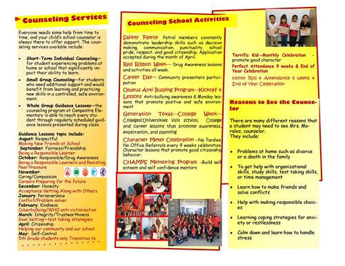 Counseling School Counselor Brochure