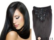 clip-in hair straight #1b natural