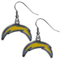 San Diego Chargers Chrome Dangle Earrings