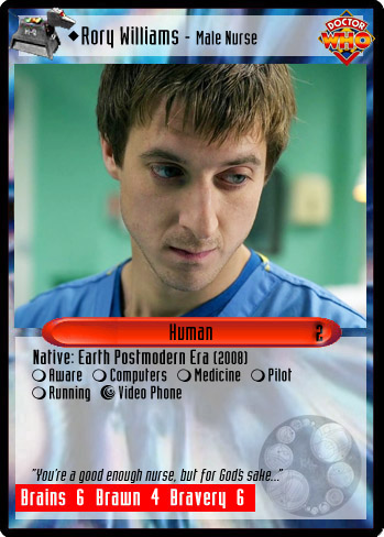 Unauthorized Dr Who CCG Rory Williams Male Nurse