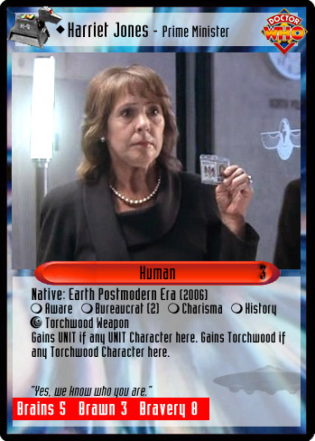 Unauthorized Dr Who CCG Harriet Jones Prime Minister