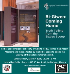 Bi-Giwen: Coming Home Truth Telling from the Sixties Scoop