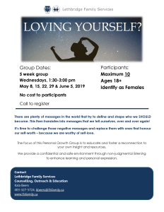 LOVING YOURSELF? @ Lethbridge Family Services