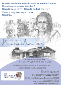 Film Screening: In the Spirit of Reconciliation @ St. Mary's University McGivney Hall