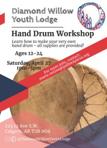 Hand Drum Workshop with Russ Baker @ Diamond Willow Youth Lodge
