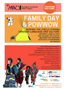 AAWC presents FAMILY DAY & POWWOW @ Fort Calgary