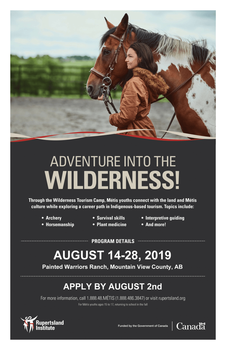Adventure into the Wilderness – WILDERNESS TOURISM CAMP FOR METIS YOUTH