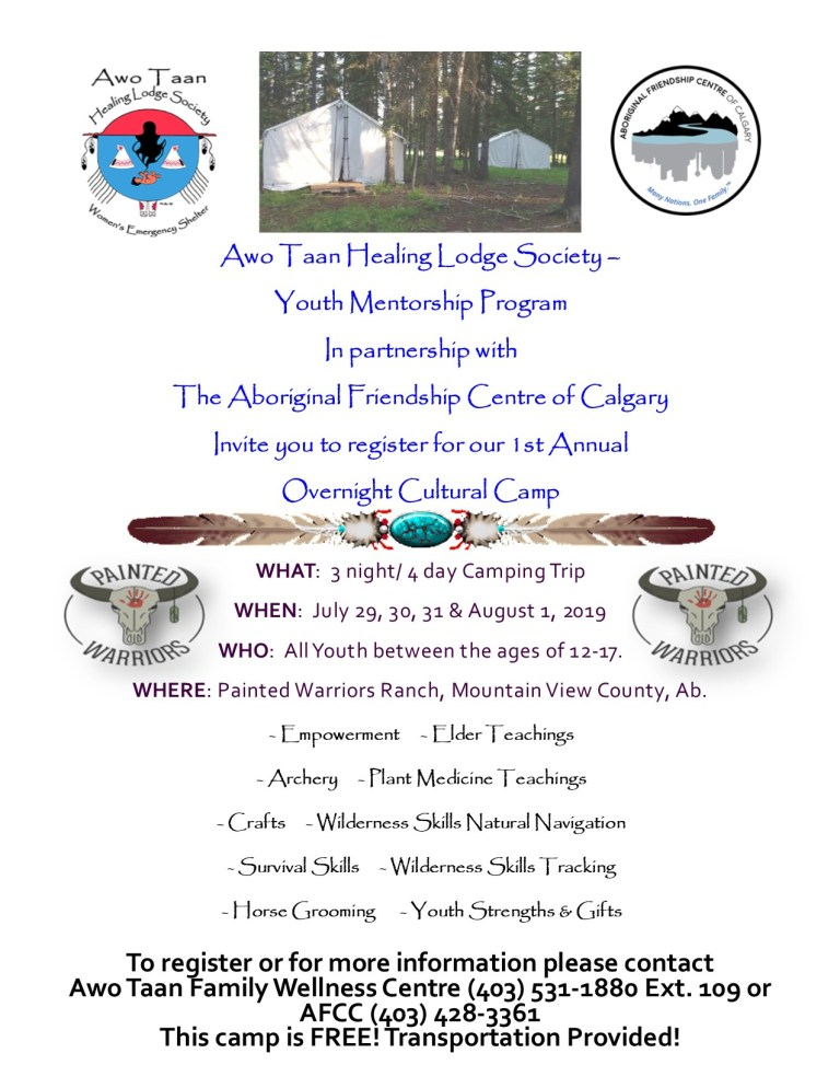 1st Annual Overnight Cultural Camp – Youth Mentorship Program