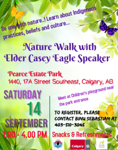 Nature Walk with Elder Casey Eagle Speaker @ Pearce Estate Park