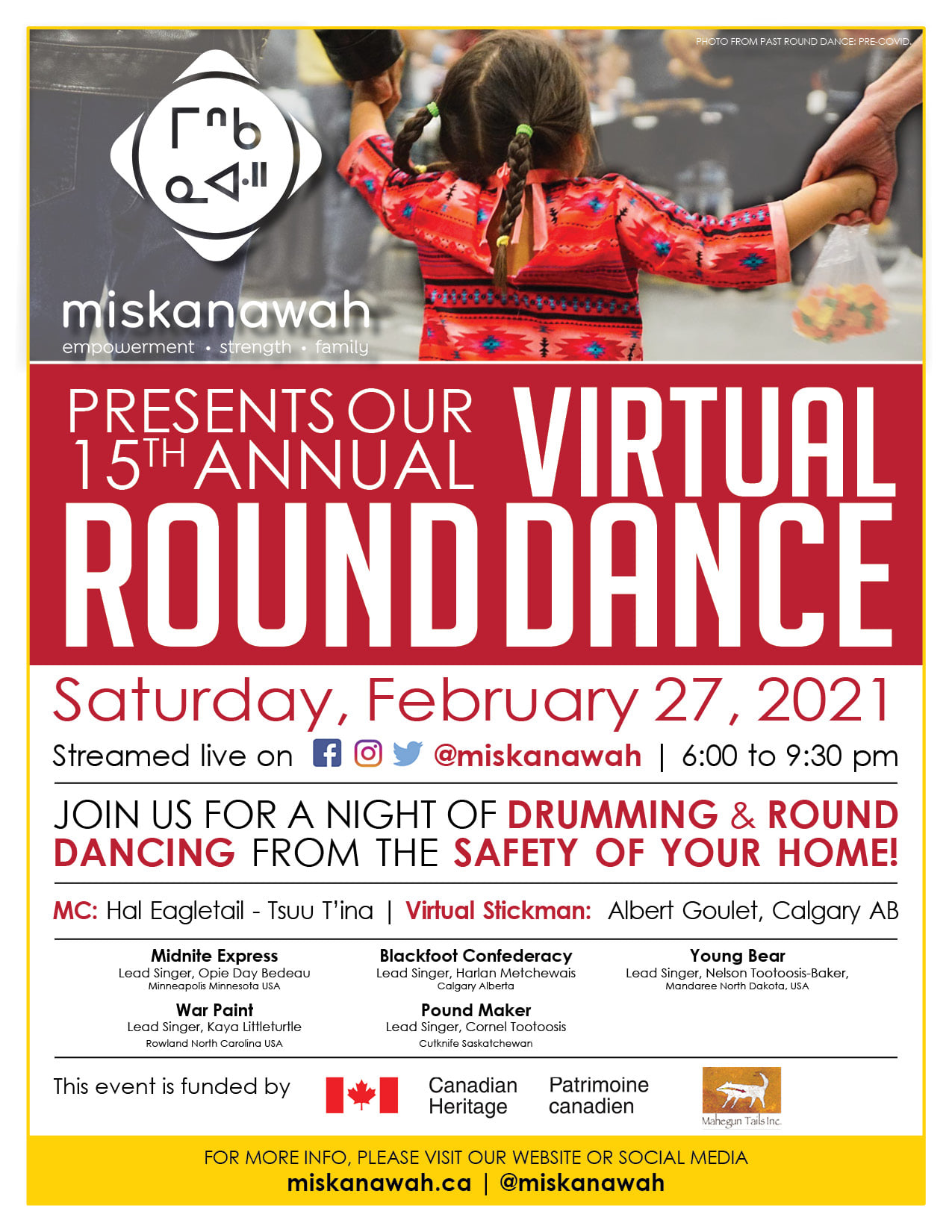 15th Annual Virtual Round Dance presented by miskanawah