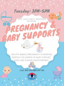 Pregnancy & Baby Supports   Awo Taan Family Resource Network