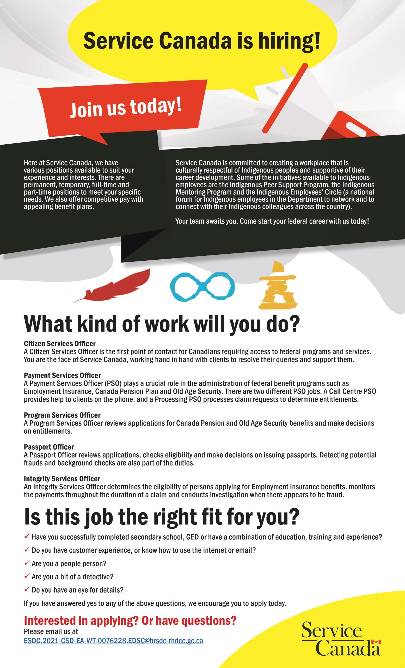 Read more about the article Service Canada is hiring!