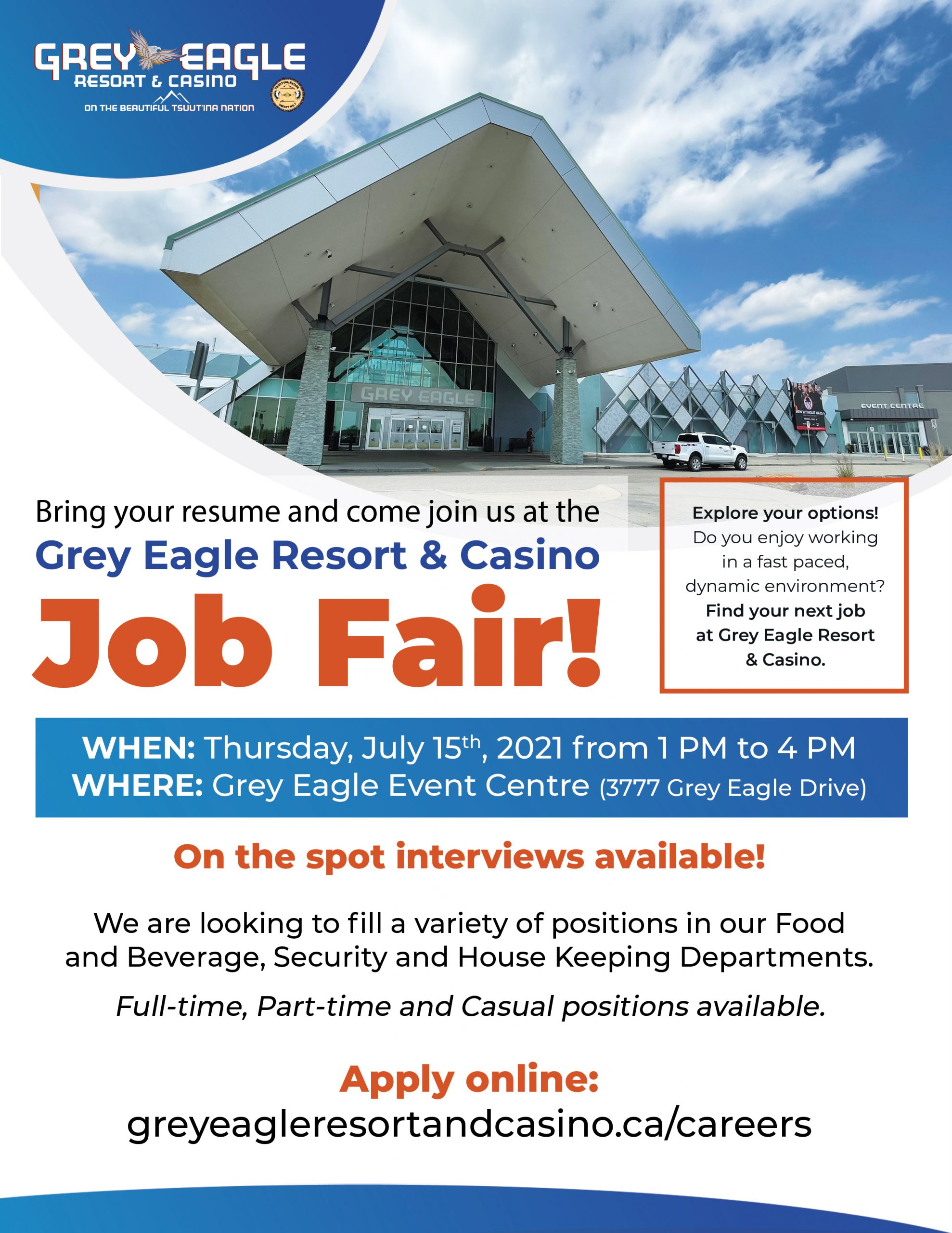 Read more about the article Grey Eagle Resort & Casino Job Fair