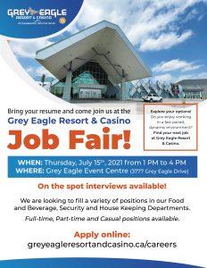 Grey Eagle Resort & Casino Job Fair @ Grey Eagle Event Centre