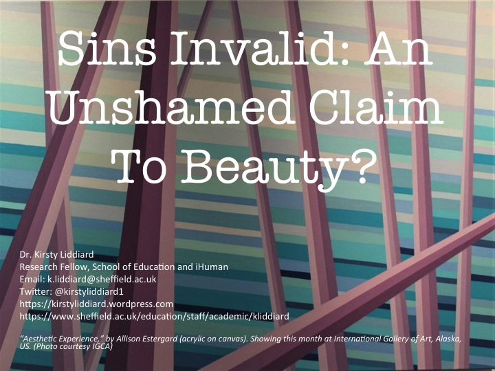 Text - Sins Invalid Unahamed Claims to Beauthy