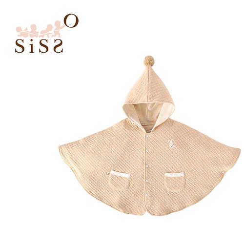 【SISSO有機棉】陽光空氣棉文小兔精靈披風 M - Sisso 有機棉