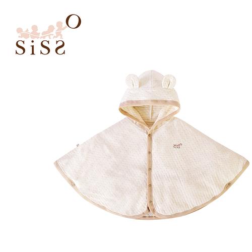 【SISSO有機棉】彩棉點點熊熊薄披風 - Sisso 有機棉