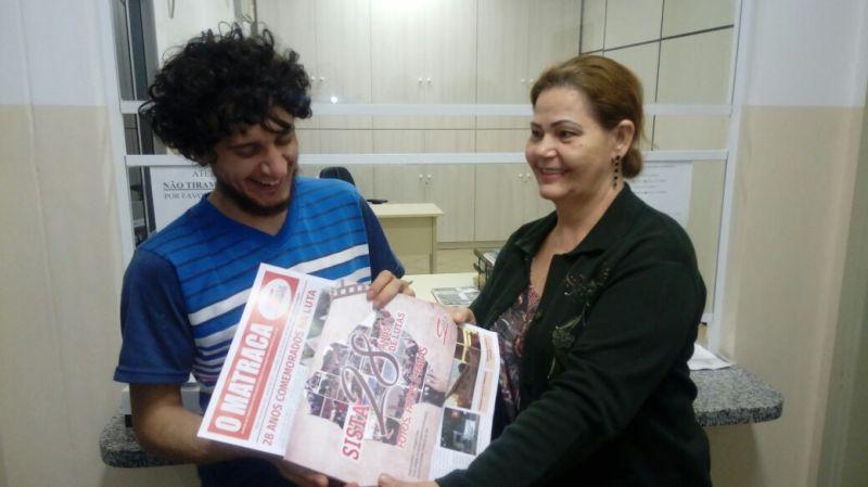 Dirigentes em Paranaíba em contato com ytabalhadores/as da unidade