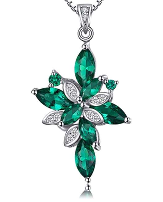 Eva: 2.3 Ct Russian Emerald Pendant