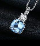Adriana: Sky Blue Topaz Pendant