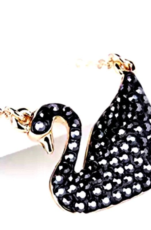Swan Lake: Austrian Crystal Necklace/Pendant