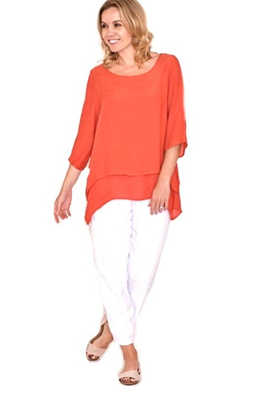 Arancio: Superb Double Layered Top