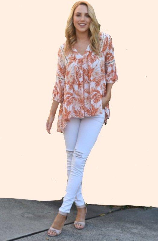 Florida: Exquisite Loose Fit Lace Shirt Top
