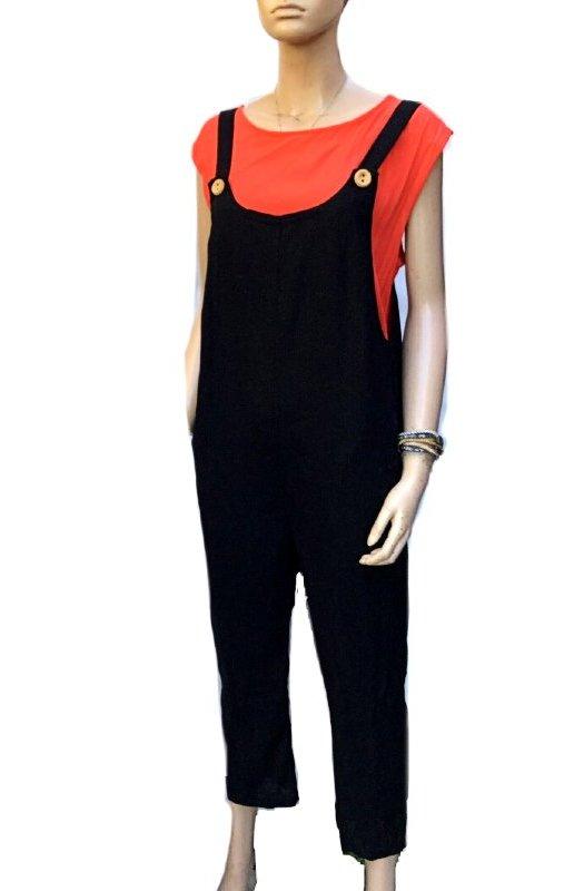 Carmel: Sunny Girl Linen Jumpsuit Overalls
