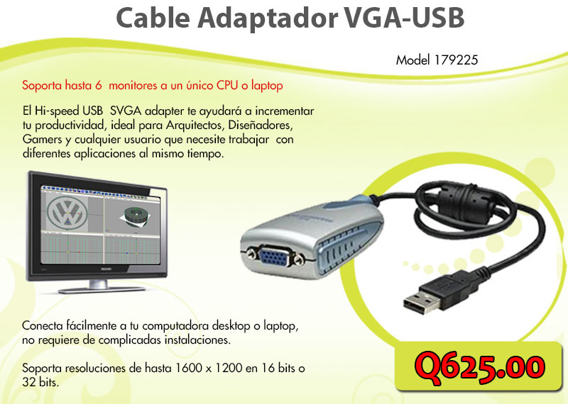Adaptador VGA a USB - Sistemas Alternativos
