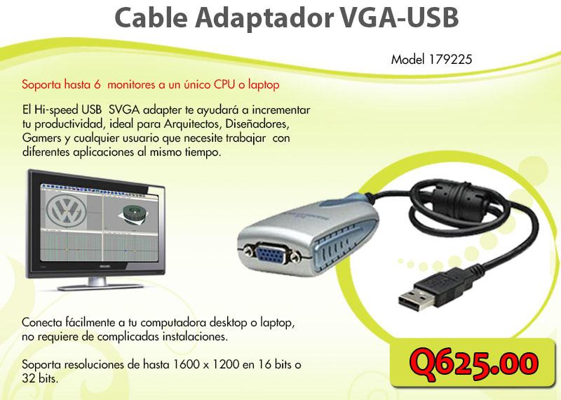 Adaptador VGA a USB - Sistemas Alternativos