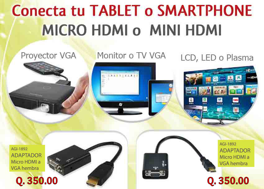 adaptadores hdmi web - Sistemas Alternativos