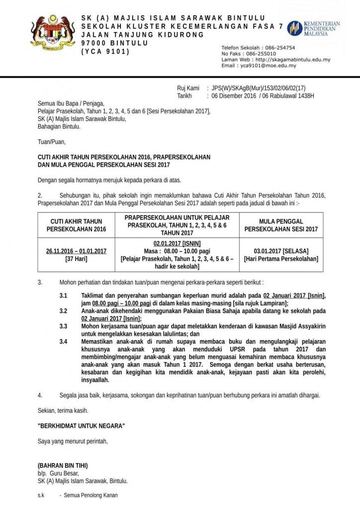 Surat Rasmi Kepada Menteri Besar Johor - GRasmi