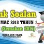 Bank Soalan Ujian Mac 2018 Tahun 1 Kssr Semakan 2017