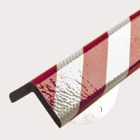 color blanco y rojo reflectante tipo H+