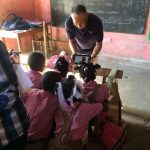 Children eager to view the videos!