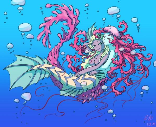 Beautiful Mermaid Tail Drawings