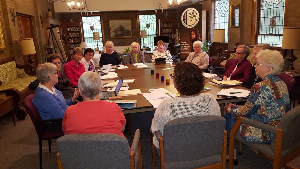 U.S. Catholic Sisters Against Human Trafficking board meeting in October  (Michele Morek)
