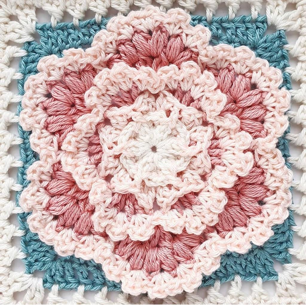 A closeup of the Springtime blossom square in romantic colors