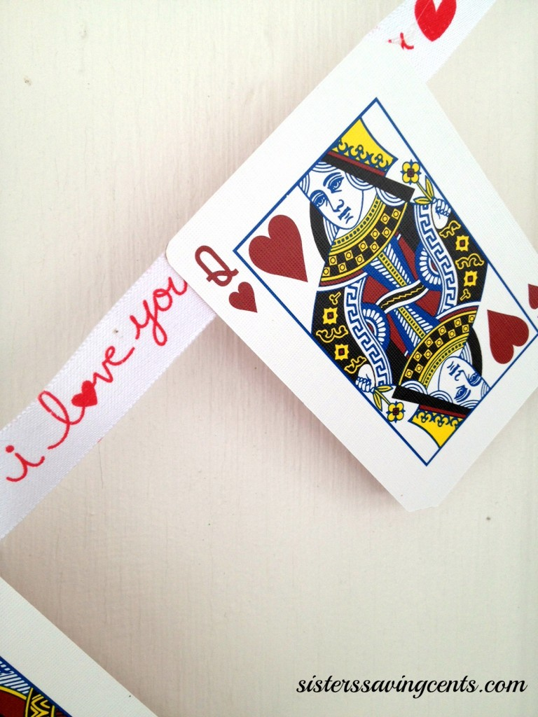 Frugal Valentines Day Decor Queen Of Hearts Playing Card