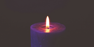 In Every Breath Purple Candle - Sister Triangle Article