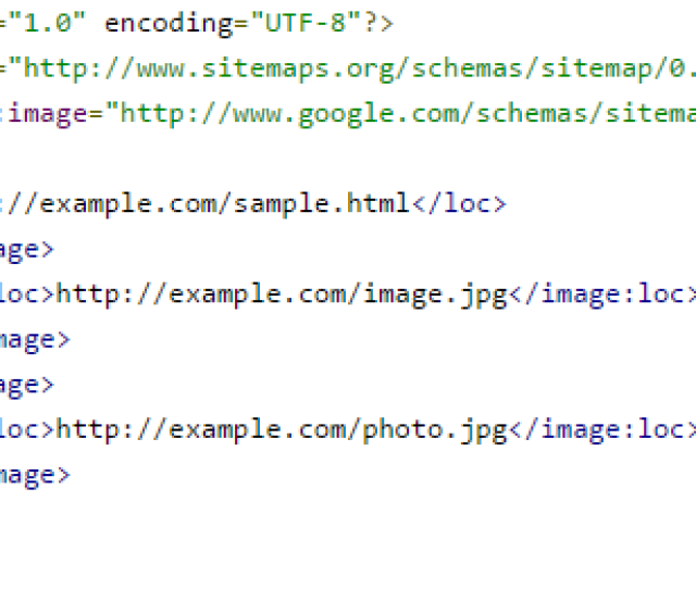 Image Xml Sitemap It Is Only Useful For Search Engines And Complements The