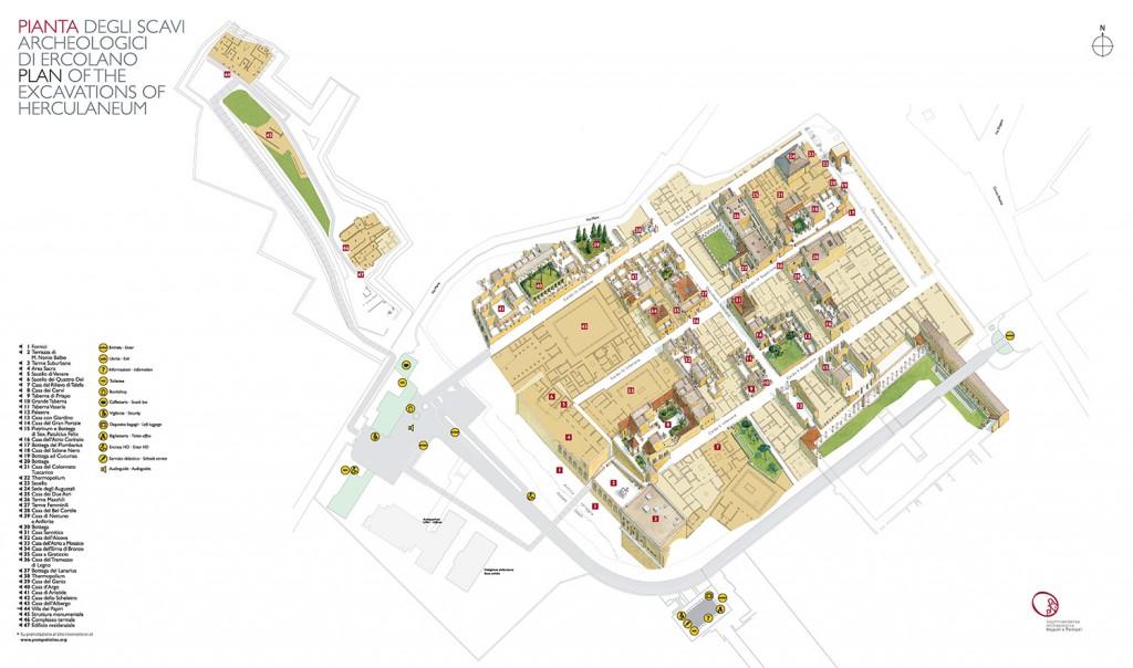 Mappa Scavi Ercolano  Sitabusit