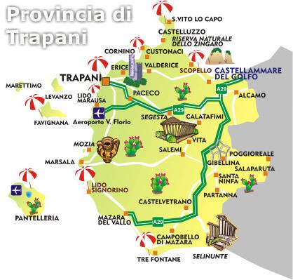 mappa trapani  Sitabusit