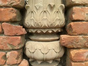 Column in dholpur stone